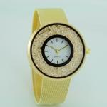 Quick Sand Alloy Mesh Belt Watch(Gold)