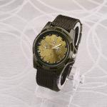 055 Men Canvas Strap Luminous Watch(Green )