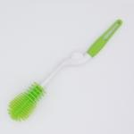 Washing Cleaning Rotary Handle Long Handle Scrubbing Feeding-bottle Brush(Green)