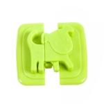 Multi-function ABS Cartoon Refrigerator Drawer Door baby Safety Protection Lock, color:Green