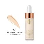 Full Cover Matt Liquid Foundation Makeup Face Base Long Lasting Concealer Primer BB Cream Make Up Cosmetics(01Natural color)