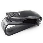 Multi-Function Glasses Case Atuo Car Accessories Sunglasses Holder Auto Fastener Ticket Clip(Black Clip)