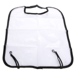2 PCS Car Seat Back Cover Protector for Kids Kick Mat Car Seat Covers Automobile Kicking Mat(Black)