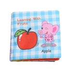 Baby Rattles Toy Soft Animal Cloth Book Newborn Stroller Hanging Toy Early Learning Education Baby Toys(Fruit)