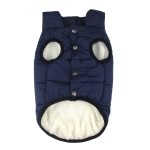 Winter Pet Coat Clothes for Dogs Winter Clothing Warm Dog Clothes, Size:S(Blue)