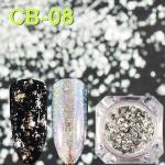 3 PCS Magic Mirror Chameleon Glitter Nail Flakes Sequins Irregular Nail Decoration(CB08)