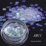 3 PCS Chameleon Color Sequins Nail Art Glitter Flakes UV Gel Decoration Tools(AB11)