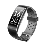 Smart Watch Heart Rate Monitor IP68 Waterproof Fitness Tracker Blood Pressure GPS Bluetooth for Android IOS women men(Black)