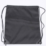 10 PCS Outdoor Drawstring Backpacks Nylon Drawing String Design Bag(Black)