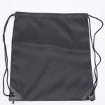 10 PCS Outdoor Drawstring Backpacks Nylon Drawing String Design Bag(Black)