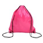 10 PCS Outdoor Drawstring Backpacks Nylon Drawing String Design Bag(Rose Red)