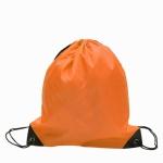 10 PCS Outdoor Drawstring Backpacks Nylon Drawing String Design Bag(Orange)