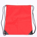10 PCS Outdoor Drawstring Backpacks Nylon Drawing String Design Bag(Red)