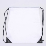 10 PCS Outdoor Drawstring Backpacks Nylon Drawing String Design Bag(White)