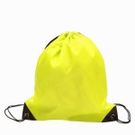 10 PCS Outdoor Drawstring Backpacks Nylon Drawing String Design Bag(Yellow)
