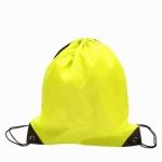 10 PCS Outdoor Drawstring Backpacks Nylon Drawing String Design Bag(Yellow)