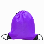 10 PCS Outdoor Drawstring Backpacks Nylon Drawing String Design Bag(Purple)