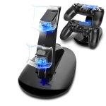Controller Charger Dock LED Dual USB PS4 Charging Stand Station Cradle for Sony Playstation 4 PS4 / PS4 Pro /PS4 slim