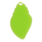 2 PCS Silicone Cleaning Brush Magic Dish Cleaning Sponges Pan Cleaner Brush(Green )