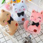 Animal Stuffed Kitty Cat Key chain Plush Dolls(Random color)