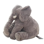 Plush Elephant Doll Toy Kids Sleeping Back Cushion Cute Stuffed Elephant Baby, Height:60cm 900g(Gray)