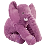 Plush Elephant Doll Toy Kids Sleeping Back Cushion Cute Stuffed Elephant Baby, Height:60cm 900g(Purple)