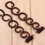 Elegance Hair Braider Flower Magic Hair Clip Queue Twist Plait Hairstyle Styling Accessories,Size:13.5×2.5cm(6090 Coffee)