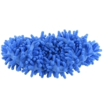 2 PCS Bathroom Floor Shoes Covers Polyester Solid Dust Cleaner Cleaning Mop Slipper(Blue)