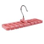 2 PCS Multifunctional Home Organizer Wardrobe Tie Rack Storage Rack, Color:Pink