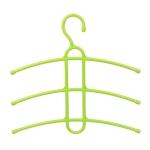 3 PCS Multi Layers Fishbone Type Clothing Towel Storage Rack Closet Wardrobe Space Saver Hanging Rack, Color:Green