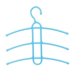 3 PCS Multi Layers Fishbone Type Clothing Towel Storage Rack Closet Wardrobe Space Saver Hanging Rack, Color:Blue