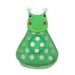 Baby Shower Bath Toys Storage Mesh Bag with Strong Suction Cups(Green )