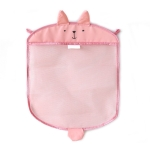 Multi-function Sundries Storage Bag Baby Bathroom Mesh Bag for Toys( Pink )