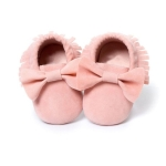 Baby Girls Shoes First Walkers Newborn Baby Moccasins Soft Sole Non-slip Footwear Shoes 13cm(Baby Pink)