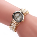 Sloggi 377 Women Knitting Rope Chain Quartz Wrist Watch(White)