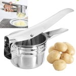 2 PCS Potato Fruit Vegetable Manual Press Juicer Stainless Steel Crusher Squeezer