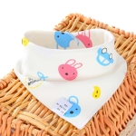 3 PCS Newborn Baby Bibs Cotton Soft Baby Smock Bibs(Bear And Car)