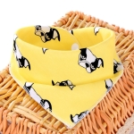 3 PCS Newborn Baby Bibs Cotton Soft Baby Smock Bibs(Yellow Dog)