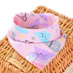 3 PCS Newborn Baby Bibs Cotton Soft Baby Smock Bibs(Smiley Cloud)