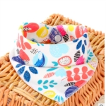 3 PCS Newborn Baby Bibs Cotton Soft Baby Smock Bibs(Colorful World)