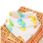 3 PCS Newborn Baby Bibs Cotton Soft Baby Smock Bibs(Cute Elephant)