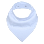 3 PCS Reusable Washable Cotton Baby Bibs Burp Cloth Adjustable Baby Meal Bibs(White)