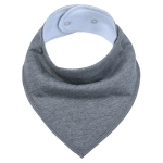 3 PCS Reusable Washable Cotton Baby Bibs Burp Cloth Adjustable Baby Meal Bibs(Dark Grey)