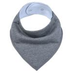 3 PCS Reusable Washable Cotton Baby Bibs Burp Cloth Adjustable Baby Meal Bibs(Dark Grey)