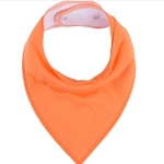 3 PCS Reusable Washable Cotton Baby Bibs Burp Cloth Adjustable Baby Meal Bibs(Orange)
