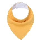 3 PCS Reusable Washable Cotton Baby Bibs Burp Cloth Adjustable Baby Meal Bibs(Dark Yellow)
