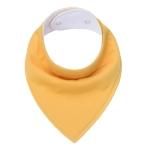 3 PCS Reusable Washable Cotton Baby Bibs Burp Cloth Adjustable Baby Meal Bibs(Dark Yellow)
