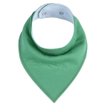 3 PCS Reusable Washable Cotton Baby Bibs Burp Cloth Adjustable Baby Meal Bibs(Army Green)