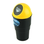Universal Car Trash Bin Car Garbage Can Rubbish Dust Case Holder Bin Automobile Storage Bucket(Yellow)