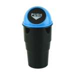 Universal Car Trash Bin Car Garbage Can Rubbish Dust Case Holder Bin Automobile Storage Bucket(Blue)